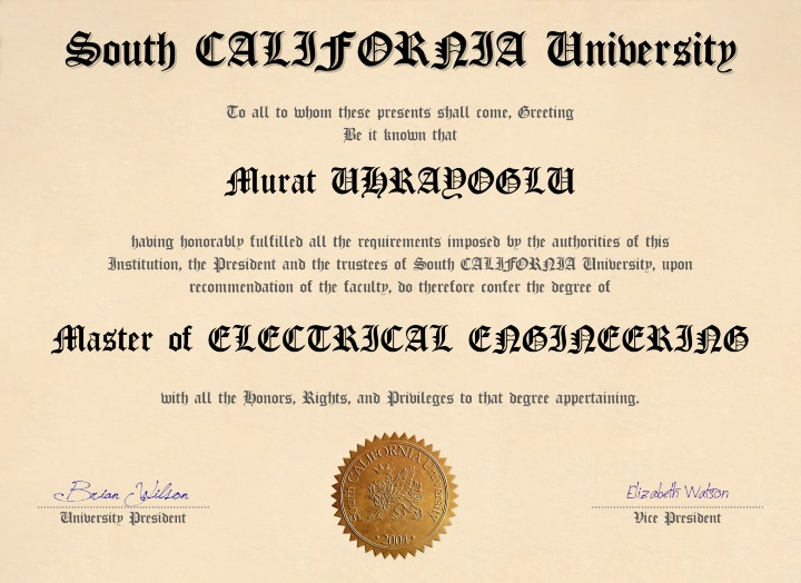 South California (Graduate Licence)
