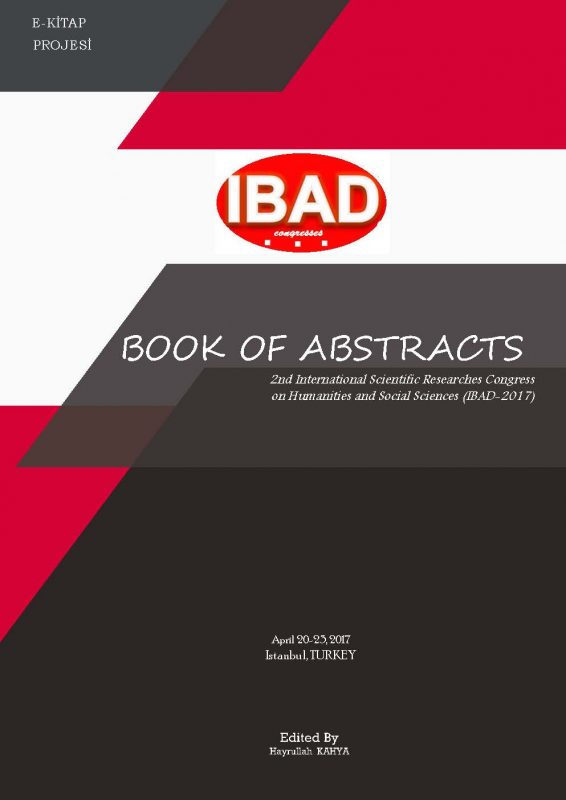 Book of Abstract (2nd International Scientific Researches Congress Humanity and Social Sciences IBAD-2017)